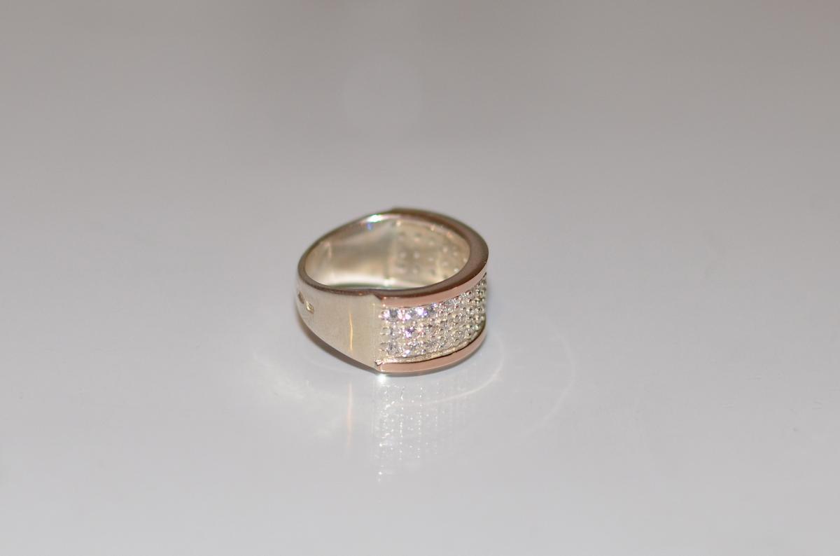 Срібна каблучка з золотими пластинами купити 11d7170c8072f