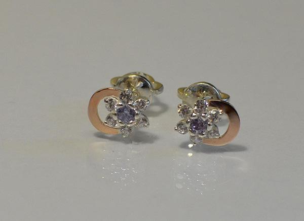 Сережки гвоздики срібло з золотими накладками купити Біла Церква ... 583c0a60be103